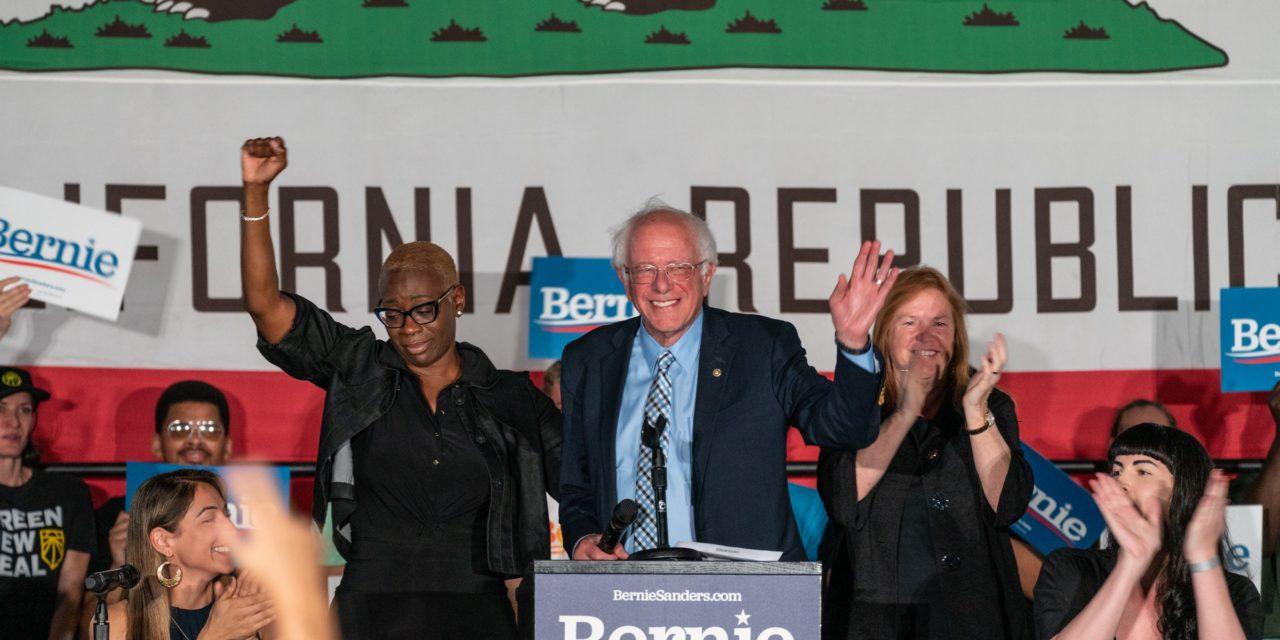 Bernie Rallies His Base in Downtown San Francisco