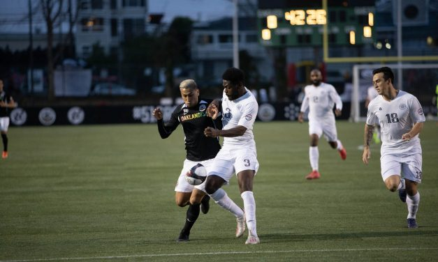 Last minute goal ties up Oakland Roots