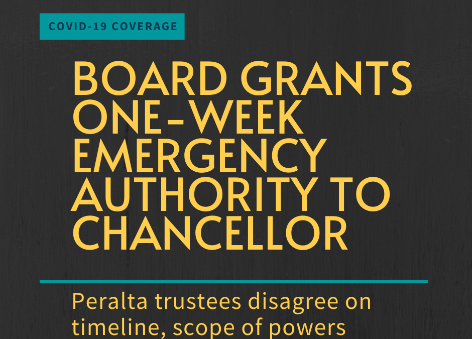 Board grants one-week emergency authority to chancellor