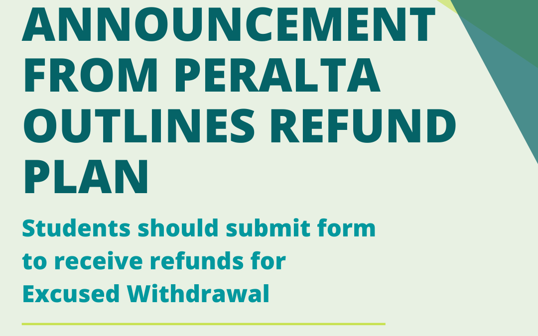 Formal announcement from Peralta outlines refund plan