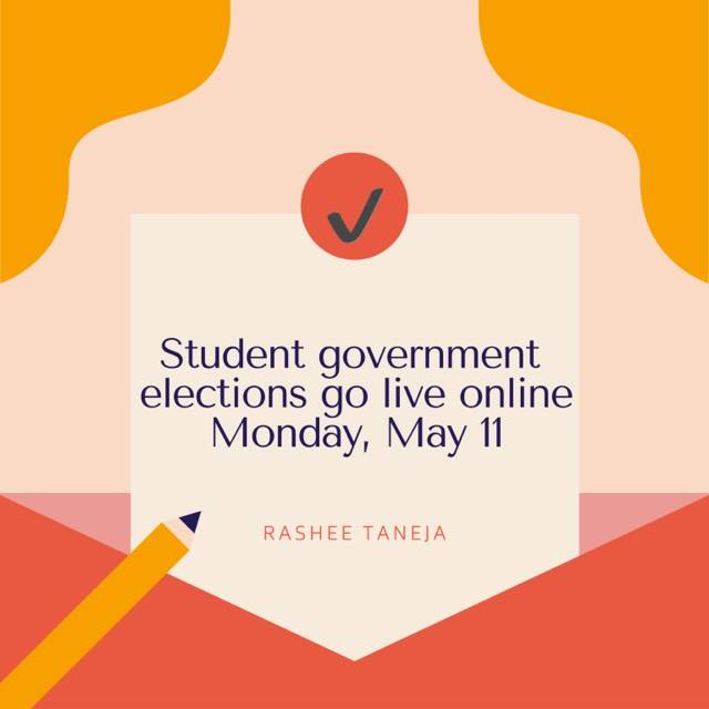 Student government elections go live online Monday, May 11