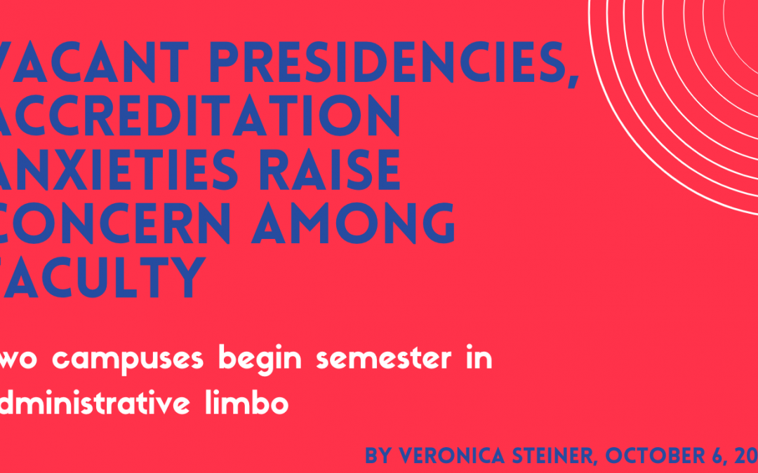 Vacant Presidencies, Accreditation Anxieties Raise Concern Among Faculty