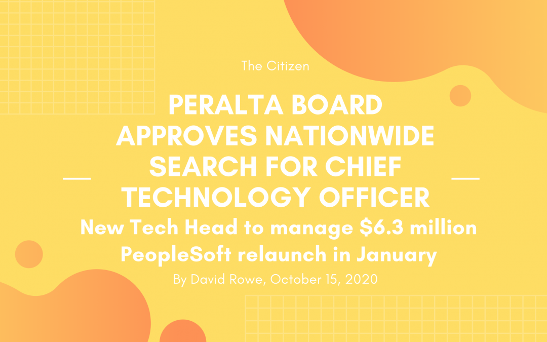 Peralta board approves nationwide search for Chief Technology Officer