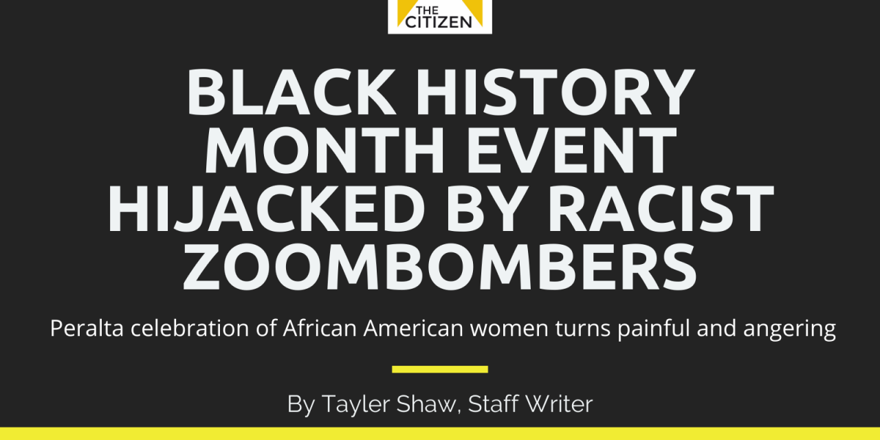 Peralta Black History Month Event Hijacked By Racist Zoombombers