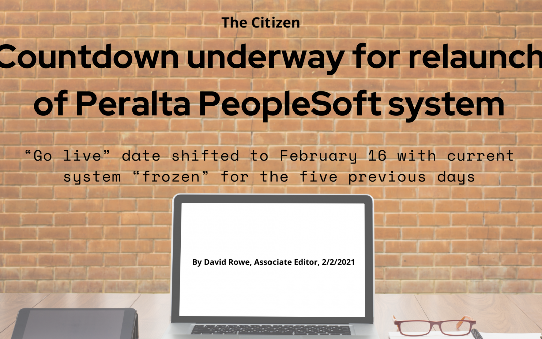 Countdown underway for relaunch of Peralta PeopleSoft system