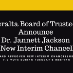 Peralta Board of Trustees Announce Dr. Jannett Jackson as New Interim Chancellor