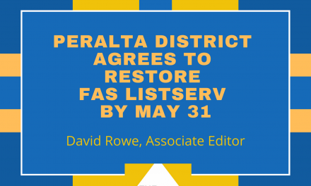 Peralta District Agrees to Restore FAS Listserv by May 31
